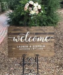 wedding photo - Wedding Welcome Sign - Rustic Wood Wedding Sign - Elizabeth Collection