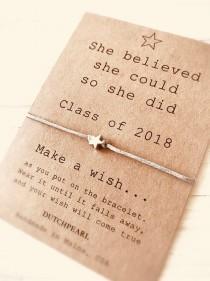 wedding photo - Graduation gift 2020 - wish bracelet -  high school college kindergarten - best friend bracelet - friendship jewelry dutchpearl