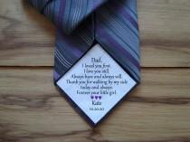 wedding photo - Dad Tie Patch / Tie Patch / Wedding Tie Patch / Father of the Groom / Thank You Dad Label / tie patch for dad  / walking by my side