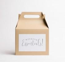 wedding photo - Weekend Essentials Gable Box (1), Wedding Welcome Box, Kraft Box, Favor Box, Wedding Gift Box, Hotel Box, Guest Gift