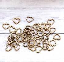 wedding photo - 100pcs Wooden Heart Confetti Rustic Scatter Hearts Wedding Table Decoration