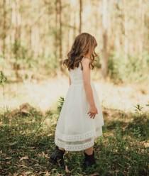 wedding photo - Vintage Grace Flower Girl Dress