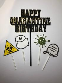 wedding photo - Quarantine cake toppers