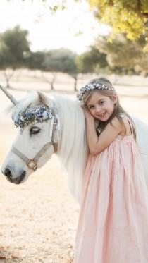 wedding photo - Silver Blue UNICORN Horn for horse, Unicorn horse set, Unicorn Party, Horse Unicorn Horn Set, Flower Crown, Horse Unicorn Costume
