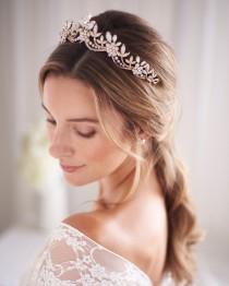 wedding photo - Opal & Crystal Bridal Tiara, Opal Wedding Headpiece, Crystal Opal Bridal Crown, Wedding Tiara, Bridal Headpiece, Opal Headpiece ~TI-3378
