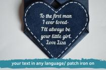 wedding photo - father of the bride tie patch