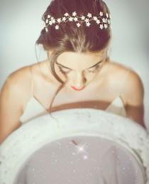 wedding photo - Star bridal headpiece, star headpiece, Wedding Star Hair accessories, celestial gold vine, Stars Bridal vine, Stars wedding Hair Accessory