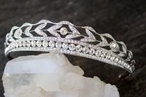 wedding photo - Bridal Tiara -  KENNEDY, Swarovski Bridal Tiara, Downton Abbey Tiara, Wedding Tiara, Bridal Crown, Art Deco Tiara Art Deco Headpiece Tiara