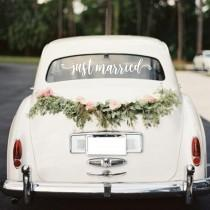 wedding photo - Just married decal