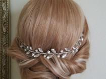 wedding photo - Wedding Crystal Hair Piece, Bridal Hair Vine, Wedding Rhinestone Headpiece, Crystal Hair Jewelry, Bridal Hair Accessories Crystal Hair Piece