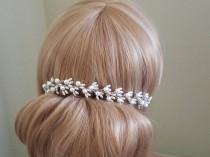 wedding photo - White Pearl Bridal Hair Vine, Wedding Hair Piece, Bridal Pearl Headpiece, Wedding Hair Jewelry, Dainty Pearl Hair Vine, Wedding Hairpiece