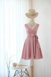 wedding photo - Nude Pink dress Pink nude Bridesmaid dress Pink Vintage dress Wedding guest dress Tea Party dress Pink sundress Anniversary dress