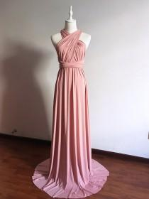 wedding photo - Long/ Short Infinity Bridesmaid Dress Convertible Bridesmaid Dress Multi-way Dress Maternity Dress Long Ball Gown Evening Dress Plus Size