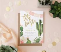 wedding photo - Let's Fiesta Bridal Shower Invitation, Cactus Bridal Shower Invitation, Boho Bridal Shower Invitation, Mexican Theme Bridal Shower, Carrie