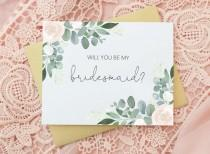 wedding photo - Will you be my Bridesmaid Card - Bridesmaid Card - Bridesmaid Gift - Be My Bridesmaid Card - Wedding Cards - Bridesmaid Proposal Card