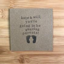 wedding photo - Personalised new baby/ pregnancy congratulations card - You're going to be amazing parents
