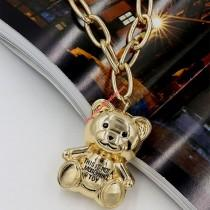 wedding photo - Moschino Teddy Bear Chain Necklace Gold