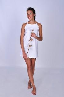 wedding photo - Nightdress made of organic cotton, bridal nightie, bridesmaid night gown