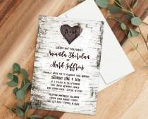 wedding photo - Carved Birch Design Invitation for Any Occasion