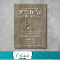 wedding photo - Rustic Elegant Wedding Shower Invitation - DIY - Printable - Customizable - Country - Digital - Bridal Shower Invite - Engagement Party