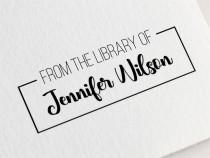 wedding photo - From The Library Of Stamp, Custom Library Stamp, Personalized Book Stamp, Custom Book Stamp, Ex Libris Stamp, Self Inking Library Stamp Z58