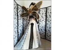 wedding photo - Champagne Steampunk fairy wedding gown