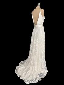 wedding photo - Wedding dress separates, wedding dress ,boho wedding dress, wedding dress lace skirt, boho lace skirt, wedding skirt, style FLORA