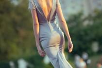 wedding photo - Minimalist mermaid wedding dress made of silk and lace
