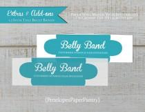 wedding photo - Custom Belly Bands,Made to Match,Wedding Stationery,Wraps,Embellishment,Envelopment