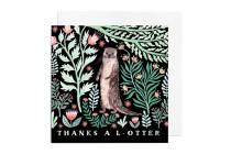wedding photo - Greetings Card - Thanks a L-Otter, Thank You Greetings Card