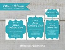 wedding photo - Custom Invitation Enclosure Card,Website Card,Registry Card,Detail Card,Accommodation Card,Direction Card,Favor Tags,Flat Name Cards,Printed