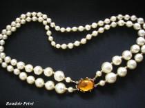 wedding photo - Vintage Baroque Pearl Necklace