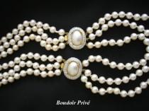 wedding photo - Long Vintage Pearl Necklace