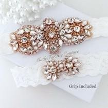 wedding photo - Garters for bride, garters rose gold, wedding garters, bridal garters, garters for wedding, wedding garter sets, wedding garter rose gold,