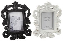wedding photo - Black White Mini Baroque Photo Frame Place Card Holder - Cadre Rococo Picture Buffet Label Table Number Wedding Luxury Regal Decorative
