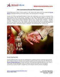 wedding photo - The conventional Kerala Matrimonial Site