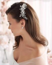 wedding photo - Pearl Bridal Comb, Floral Wedding Comb, Bridal Hair Comb, Wedding Hair Accessory, Crystal Hair Comb, Pearl Comb, Bridal Headpiece ~TC-2293