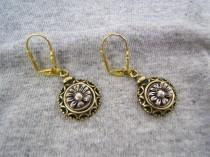 wedding photo - Gift Idea! Boho Chic Floral Earring, Flower Jewelry, Vintage Style, Bohemian, Boho, Gold, Silver,  Antique, On Sale! Free Shipping*! #50236