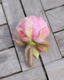 wedding photo - Boutonniere, buttonhole, wedding boutonniere, groomsmen buttonhole, prom boutonniere, wedding flowers, groomsmen, groom, wedding party