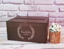 wedding photo - Wedding Card Box With Slot Wooden Card Box For Wedding Baptism Box Anniversary Box Card Holder Envelope Box Wooden Money Holder Gift Box