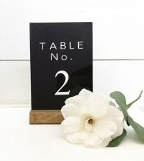 wedding photo - Black Acrylic Table Numbers