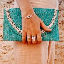 wedding photo - Turquoise Boho Bag