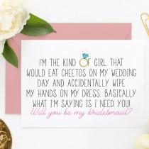 wedding photo - Funny Bridesmaid Card, Bridesmaid Proposal, Funny MOH Cards, Asking Cards, Bridesmaid Proposal Card (ITKOG101)