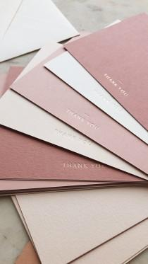 wedding photo - Ombre Dusty Pink Thank You Cards