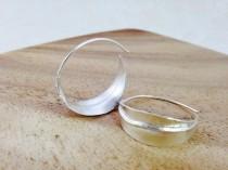 wedding photo - Silver Hoop Earrings, Modern Hoop Earrings, Olive Leaf in Silver, Leaf Hoop Earring, Silver Basket Hoop, Silver saddle hoop, Botanical Jewel
