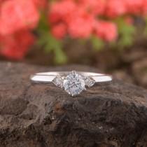 wedding photo - Womens Engagement Ring, Simple Ring, Art Deco Engagement Ring, Promise Ring, Anniversary Ring, Filigree Ring