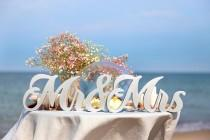 wedding photo - Mr and Mrs sign - Sweetheart Table Decor - Wedding Decoration - Mr and Mrs letters - Wedding Centerpiece