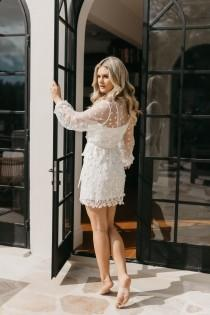 wedding photo - Lace Robe / Lace Bridal Robe / Bridesmaid Robes / Robe / Bridal Robe / Bride Robe / Bridal Party Robes / MAYA