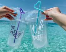 wedding photo - Bridal Drink Pouches- Adult Drink Pouches - CapriSun Pouches -Bachelorette Booze Bag
