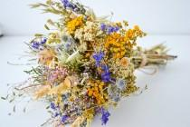 wedding photo - Summer bouquet, rustic wedding, field bouquet, wedding accessory, home decoration, women's gift